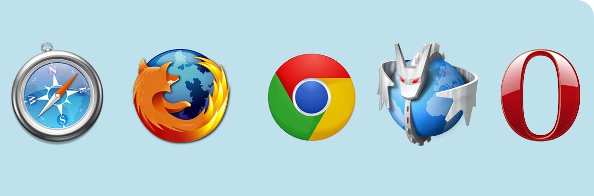 Modern Web Browsers - Safari, Firefox, Chrome, Rekonq, Opera